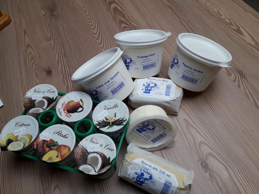 Produits laitiers fermier